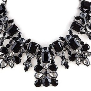 """ZD Exclusives Jewelry - """"HeadTurner"""" Jet Crystal Statement Necklace,NWT"""